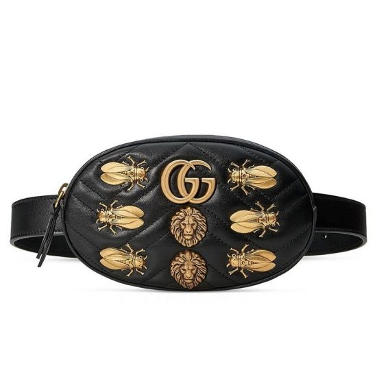 POCHETE GG MARMONT 2.0 ANIMAL STUDS LEATHER BELT