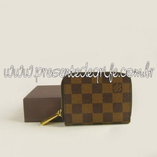 CARTEIRA LOUIS VUITTON DAMIER ZIPPY COIN PURSE