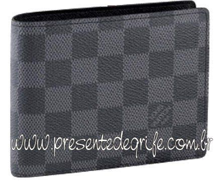 CARTEIRA LOUIS VUITTON FLORIN BLACK DAMIER UNISSEX