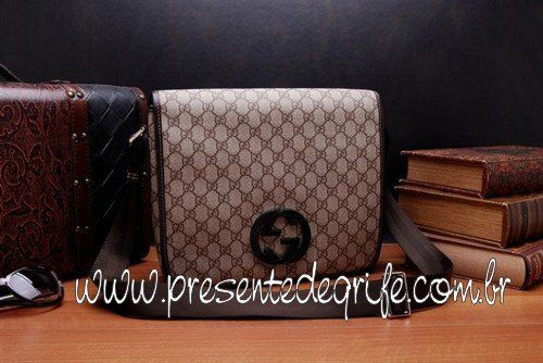 BOLSA GUCCI MESSENGER LARGE WITH INTERLOCKING