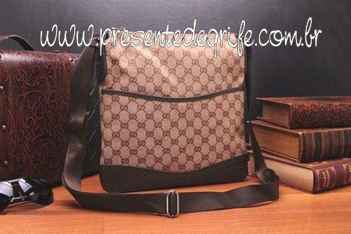 BOLSA GUCCI MESSENGER BAG WITH PERFORATED DETAIL