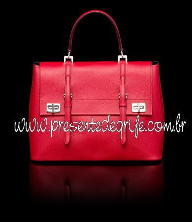 BOLSA PRADA SAFFIANO CUIR LEATHER BRIEFCASE