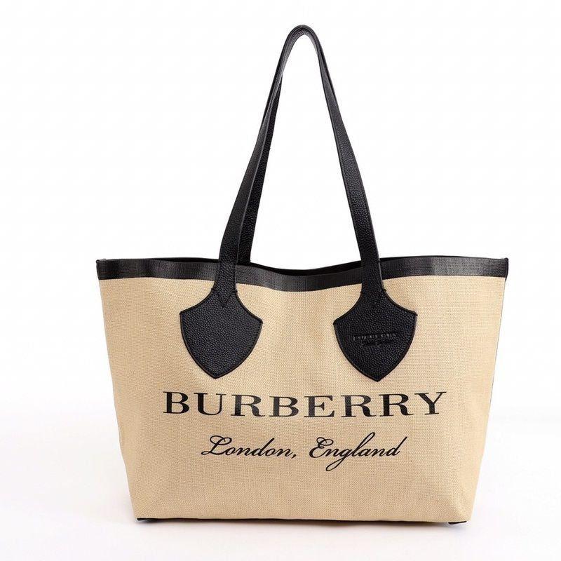 BOLSA BURBERRY TOTE GRAPHIC PRINT JUTE