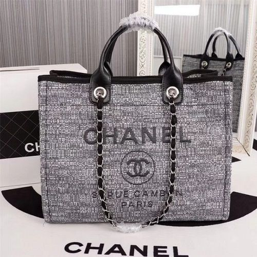 BOLSA CHANEL CANVAS TOTE SHOPPING BAG 8099