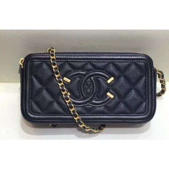 BOLSA CHANEL CC FILIGREE GRAINED CLUTCH