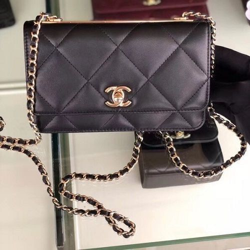 BOLSA CHANEL FLAP BAG LAMBSKIN 3798