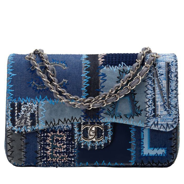 BOLSA CHANEL DENIM PATCHWORK