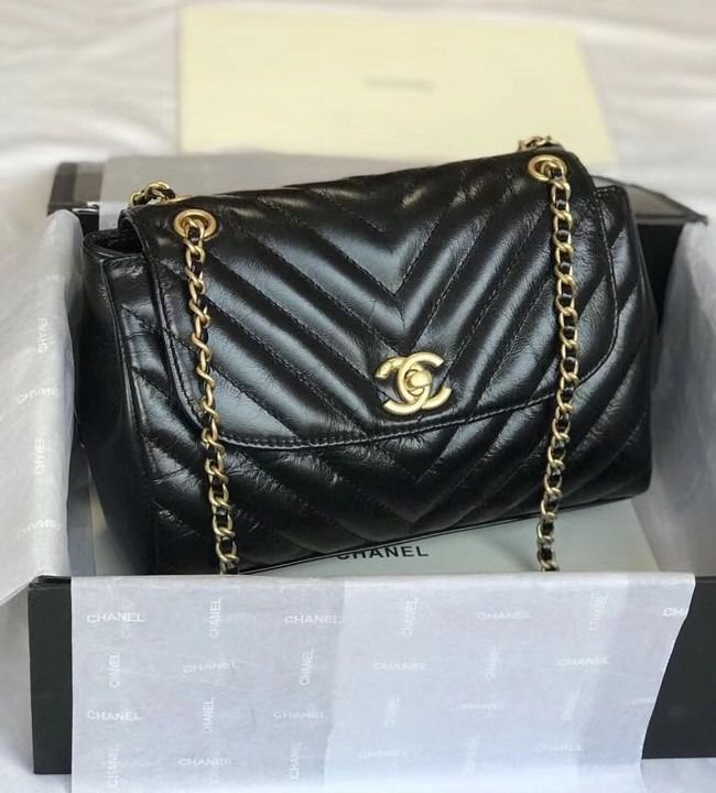 BOLSA CHANEL FLAP BAG AGED LAMBSKIN A57700