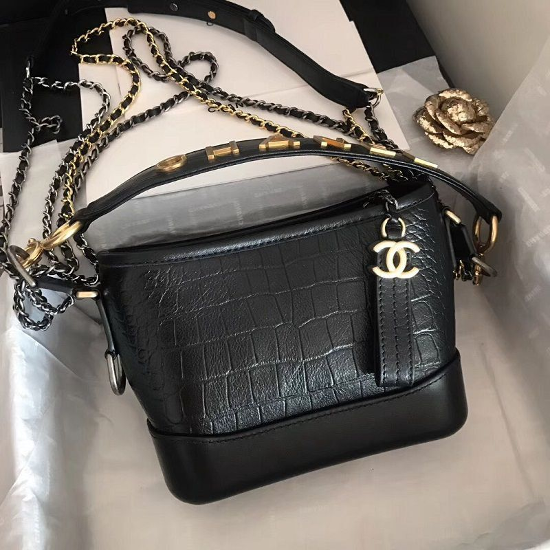 BOLSA CHANEL GABRIELLE CROCO HOBO BAG A91810