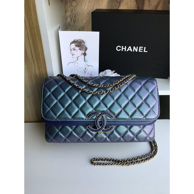 BOLSA  CHANEL LAMBSKIN FLAP BAG A57275