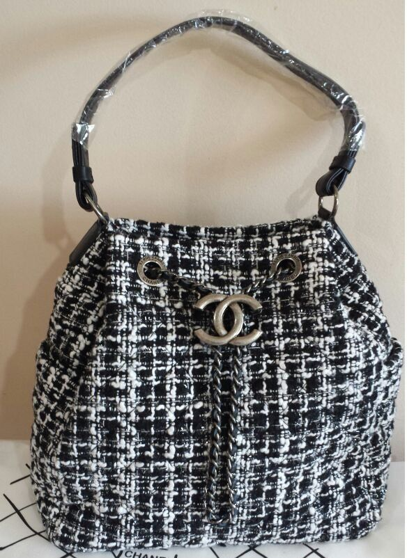 BOLSA CHANEL TWEED DRAWSTRING