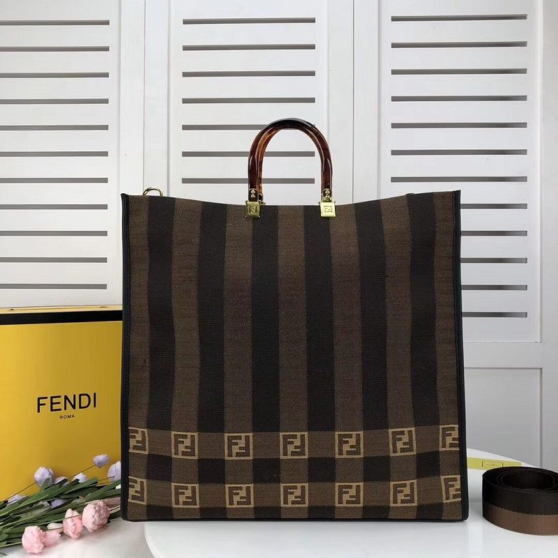 BOLSA FENDI SHOPPER IN BROWN FABRIC 8BH372