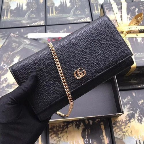 BOLSA GG MARMONT LEATHER CHAIN 546585