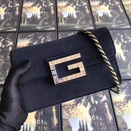 BOLSA GG SHOULDER BAG WITH SQUARE VELVET G 544242