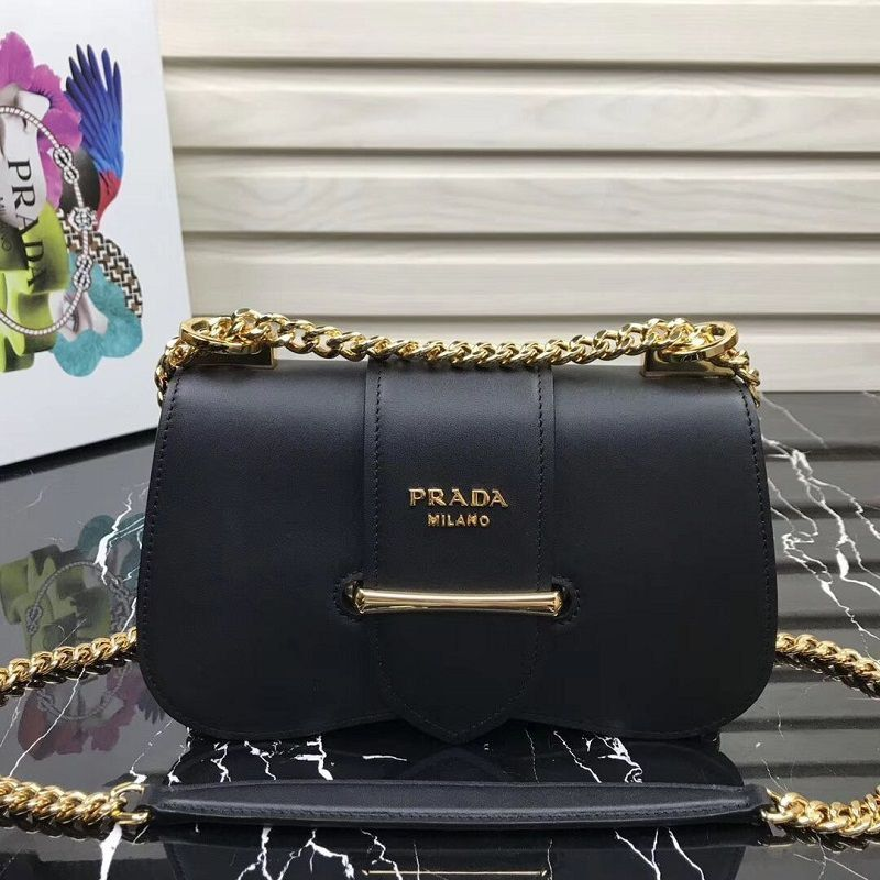 BOLSA PRADA SIDONIE LEATHER SHOULDER BAG 1BD184