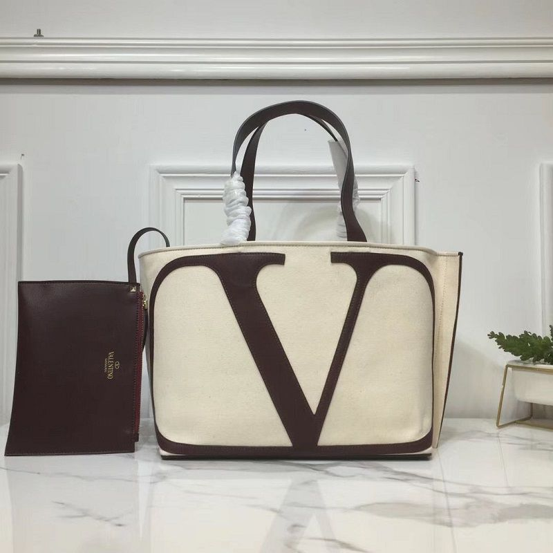 BOLSA VALENTINO CANVAS SHOPPING BAG V0065