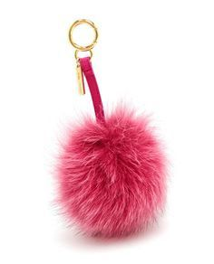 CHAVEIRO FENDI FOX FUR POMPOM