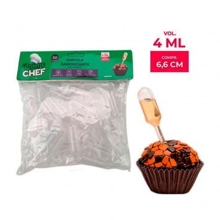 AMPOLA CILINDRO 4ML C/ 50 UN PRIME CHEF