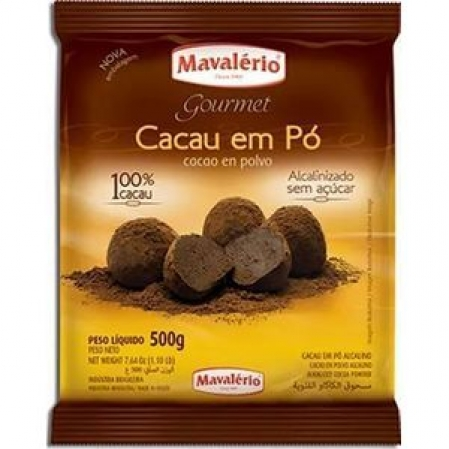 CACAU EM PÓ ALCALINO MAVALÉRIO 500G MAVALÉRIO