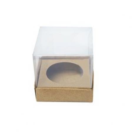 CAIXA MINI CUPCAKE I (1 CAV.) KRAFT C/ 10 UN ART CRYSTAL