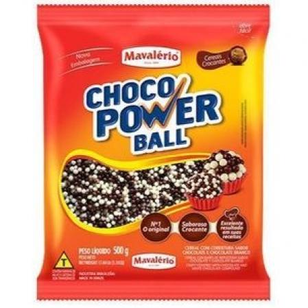 CHOCO POWER BALL MICRO CHOCOLATE BRANCO E AO LEITE 500G MAVALÉRIO