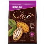 CHOCOLATE AMARGO SELEÇÃO 63% GOTAS 2,05KG SICAO