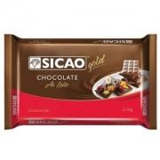 CHOCOLATE AO LEITE BARRA 2,1KG SICAO