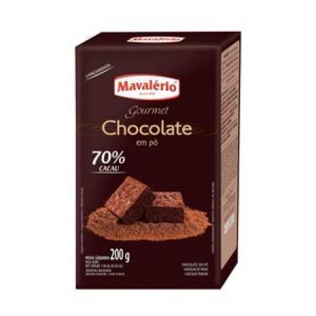 CHOCOLATE EM PÓ 70% CACAU 200G MAVALÉRIO