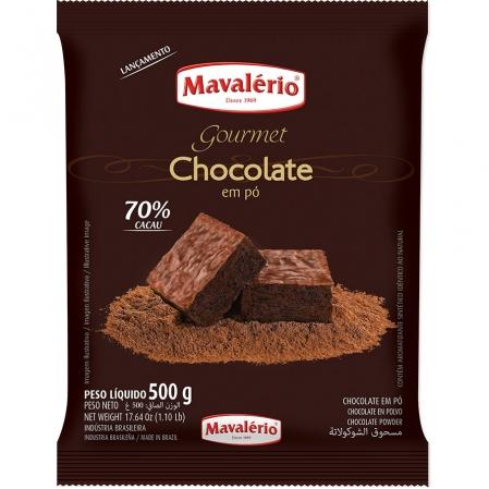 CHOCOLATE EM PÓ 70% CACAU 500G MAVALERIO