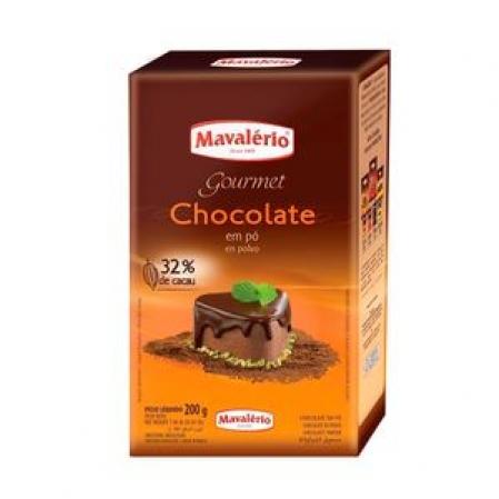 CHOCOLATE EM PÓ SOLÚVEL 32% CACAU 200 G MAVALÉRIO
