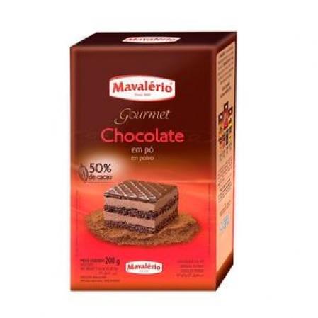CHOCOLATE EM PÓ SOLÚVEL 50% 200G MAVALÉRIO