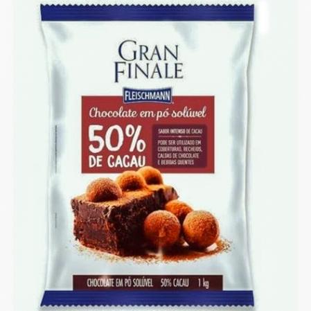 CHOCOLATE PÓ SOLÚVEL 50% 1KG GRAN FINALE