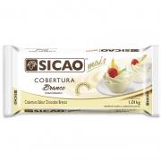 COBERTURA CHOCOLATE BRANCO BARRA 1,01KG SICAO