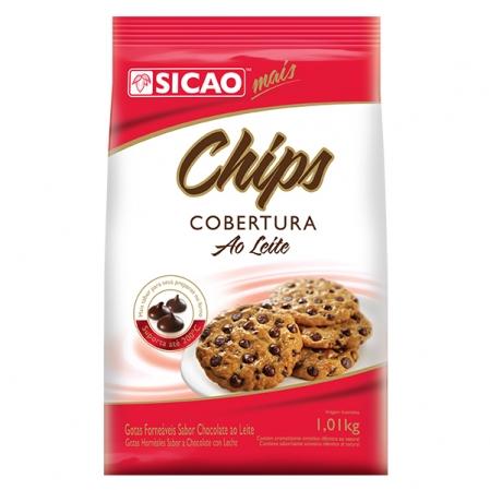 COBERTURA SABOR CHOCOLATE AO LEITE CHIPS 1,01KG SICAO