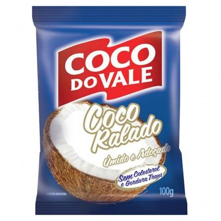 COCO RALADO ÚMIDO E ADOÇADO COCO DO VALE 100G