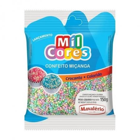 CONFEITO MIÇANGA COLORIDA BABY N0 150G MAVALÉRIO