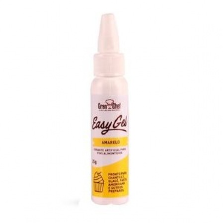 CORANTE EASY GEL AMARELO 25G GRAN CHEF