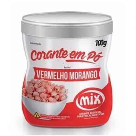 CORANTE EM PÓ VERMELHO MORANGO 100G MIX
