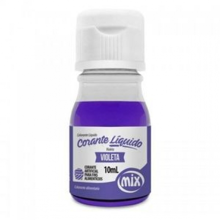 CORANTE LÍQUIDO VIOLETA 10ML MIX
