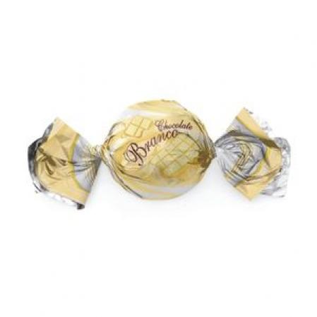 EMBALAGEM TRUFA SABORES CHOCOLATE BRANCO 15X16 C/100 UN CROMUS