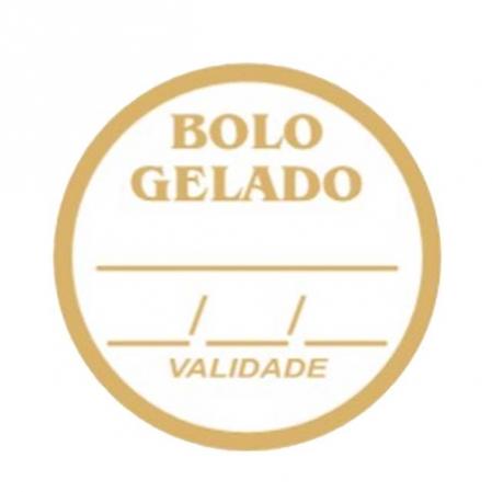 ETIQUETA BOLO GELADO C/100 - CARBER
