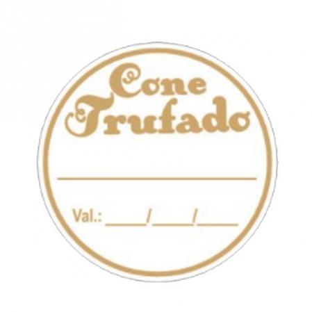 ETIQUETA CONE TRUFADO VALIDADE C/100 - CARBER