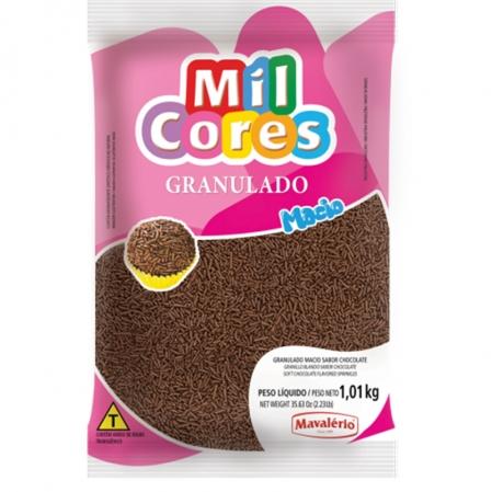 GRANULADO MACIO SABOR CHOCOLATE MIL CORES 1,01KG MAVALÉRIO