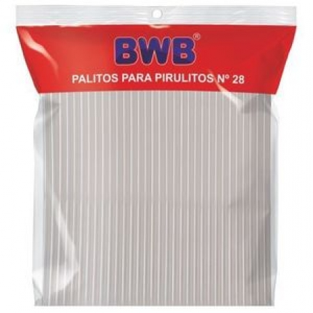 PALITOS PARA PIRULITO GRANDE - CRISTAL  PCT C/ 50 UND (283) BWB