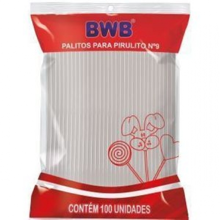 PALITOS PARA PIRULITO PEQUENO - CRISTAL PCT C/ 100 UND (115) BWB