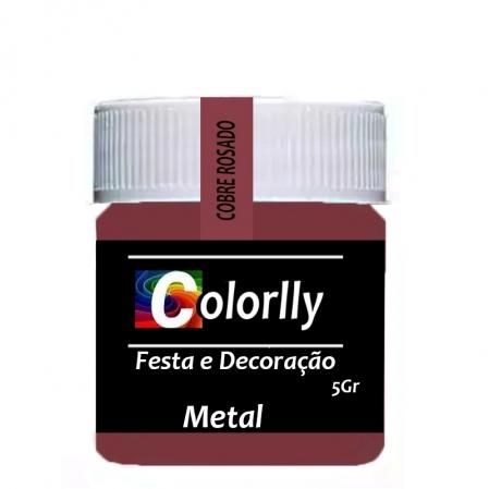 PÓ METAL COBRE ROSADO 5G COLORLLY