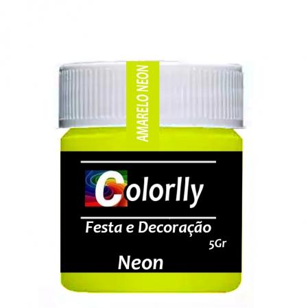 PÓ NEON AMARELO 5G COLORLLY
