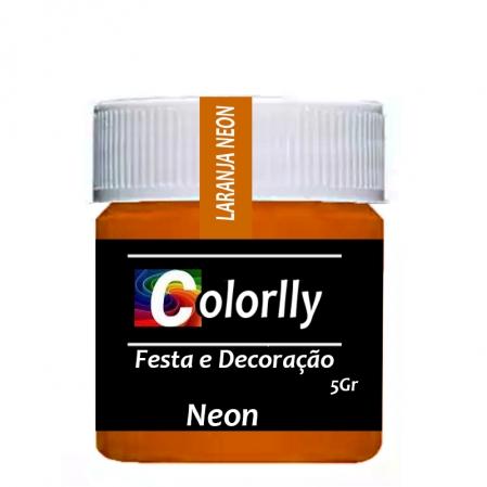 PÓ NEON LARANJA 5G COLORLLY