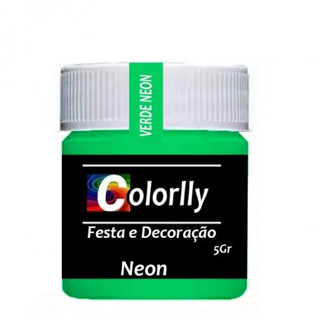 PÓ NEON VERDE 5G COLORLLY