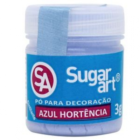 PÓ PARA DECORAÇÃO AZUL HORTÊNCIA 3G SUGAR ART
